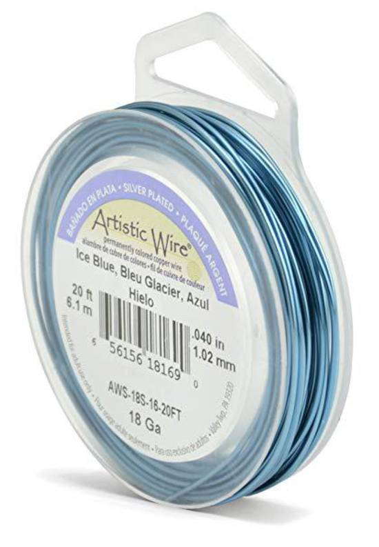 Artistic Wire: 18 gauge, Ice Blue