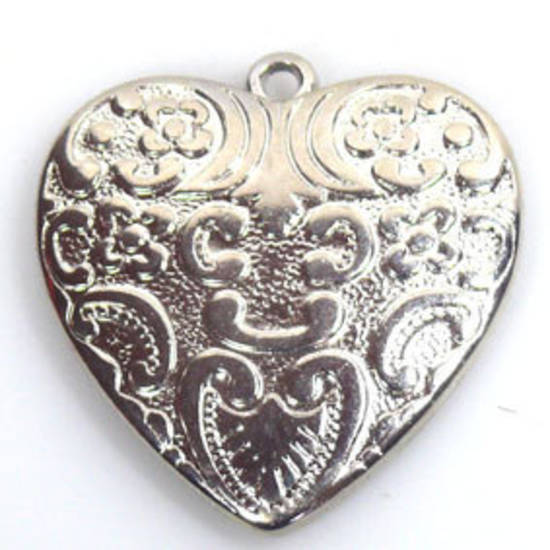 Large acrylic heart - silver