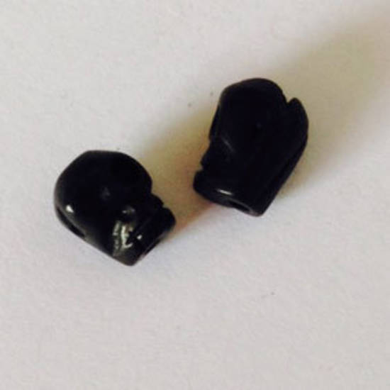 Bone Bead: Baby Black Skull 8mm x 6mm