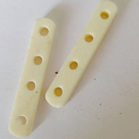 Bone Bead: Bone Spacer, 5 hole