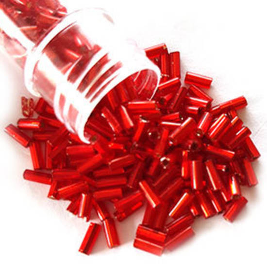 Chinese Bugle, 5mm: Red, silver lined