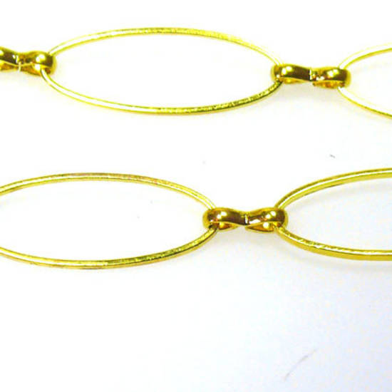 Large Oval Chain, figure 8 links, Gold