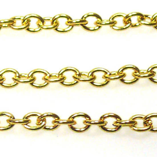 Fine Chain: Gold (3mm)