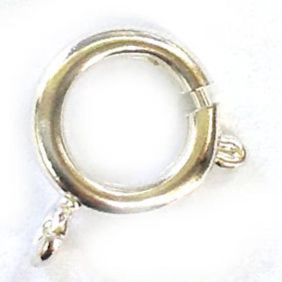 Spring Ring Clasp, large - brighter silver