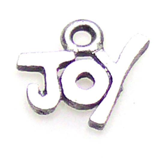 Metal Charm:  'JOY'