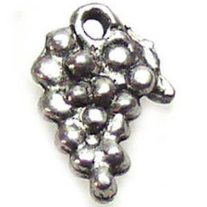 Metal Charm, grape bunch