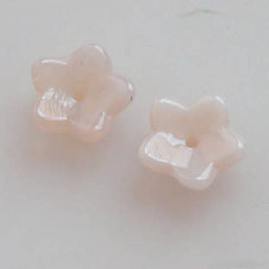 NEW! Cupped Flower, 10mm - Opaque Milky Pink