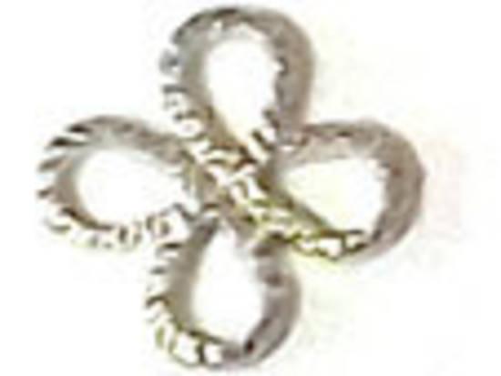 Metal Connector: Simple Daisy - antique silver