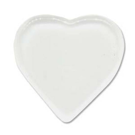 Glass Tile (Cabochon), large heart - 33mm