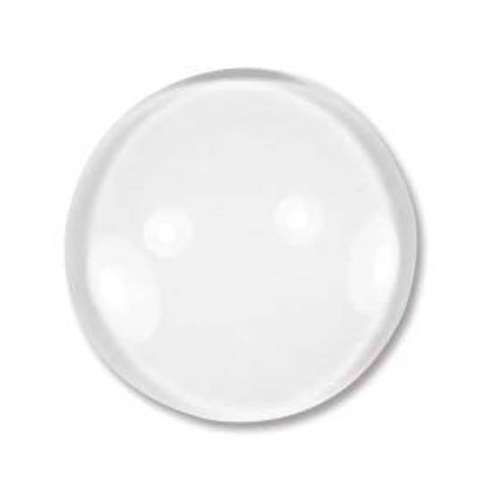 Glass Tile (Cabochon), small round - 20mm