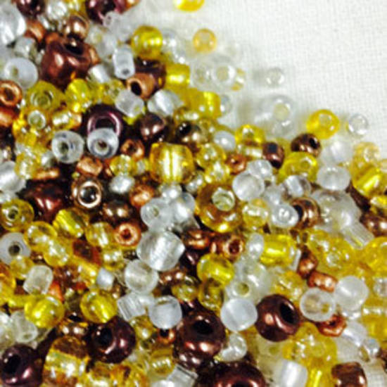 NEW! Chinese Seed Bead Mix - silvers and golds