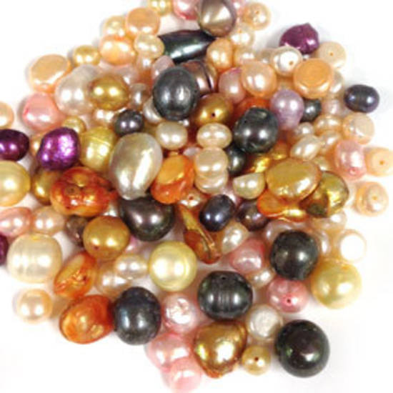 NEW! FRESHWATER PEARL MIX: Orange/Pink/Yellow/Dark