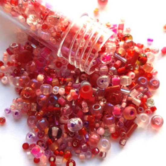 NEW! Seed Bead Mix, 15gm - PINKED