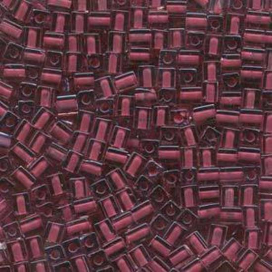 4mm Miyuki Square: 2649 - Pink/Red, colour lined