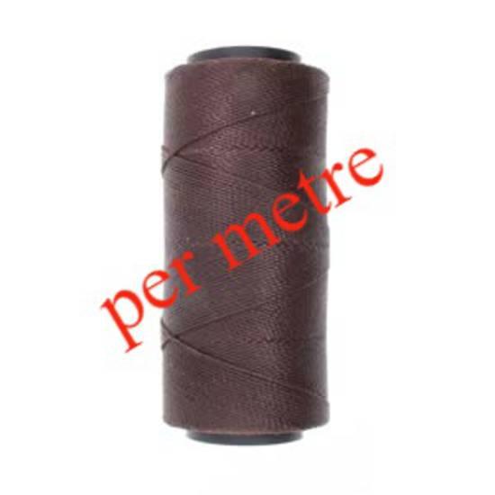 Knot-It Brazilian Waxed Polyester Cord: Dark Chocolate - per meter
