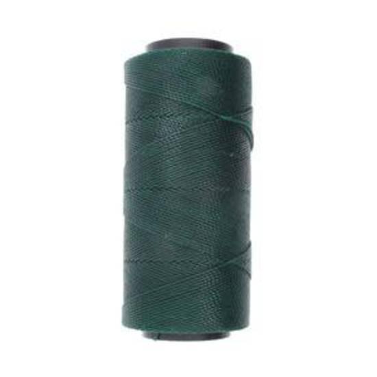 Knot-It Brazilian Waxed Polyester Cord: Dark Green - per meter