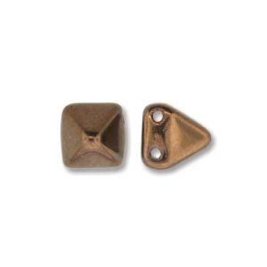 Pyramid Stud:  6mm - Jet Bronze