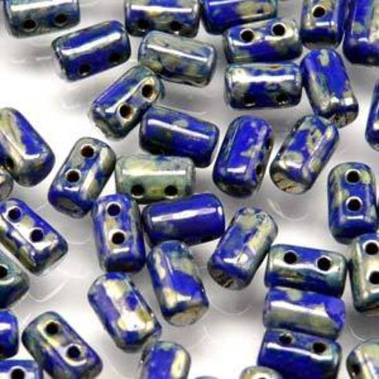 Rulla Bead: Opaque Blue Picasso