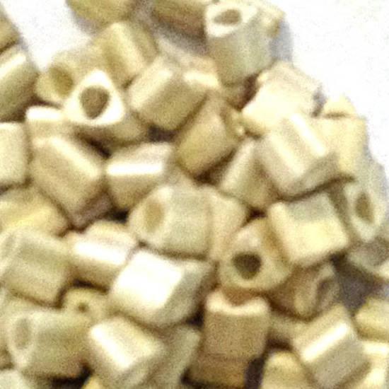 Miyuki size 10 triangle: F470 - Frosted Silvery