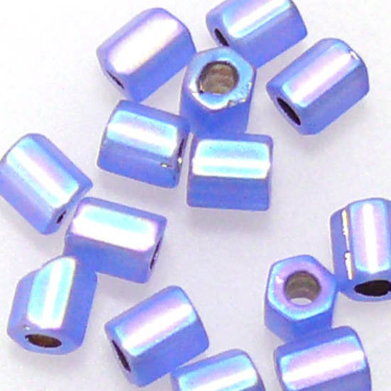 Miyuki size 8 hex: F642 - Frosted Sapphire Shimmer