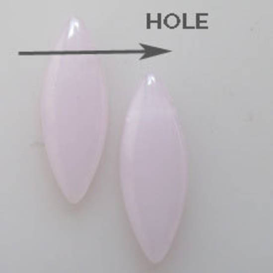 Dagger Bead, 8mm x 24mm: Opaque Light Pink