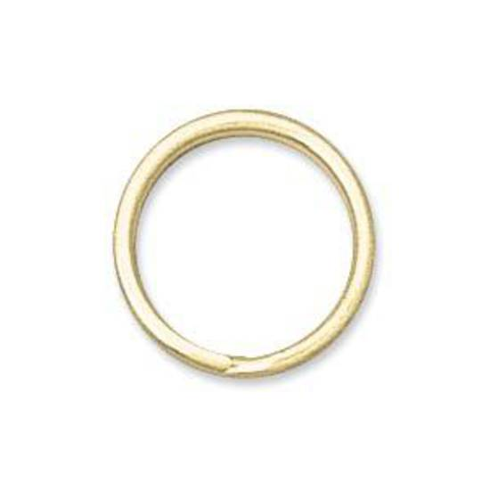 12mm Split Ring, gold
