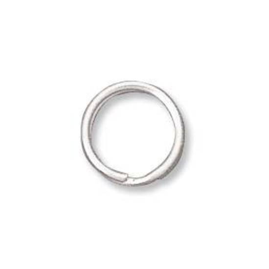 9mm Split Ring, antique silver