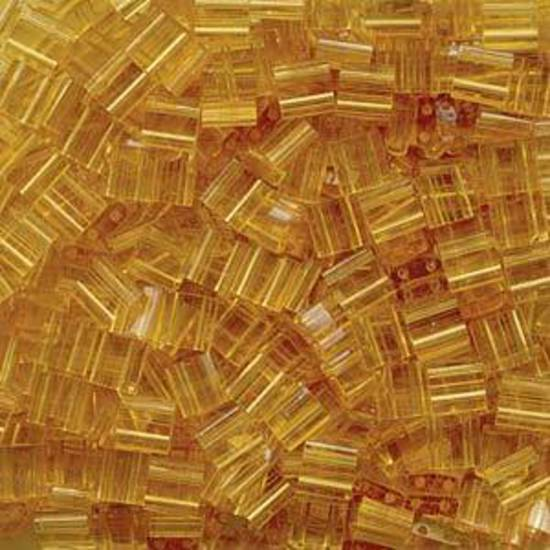 Tila Bead, 5mm, Transparent Pale Topaz