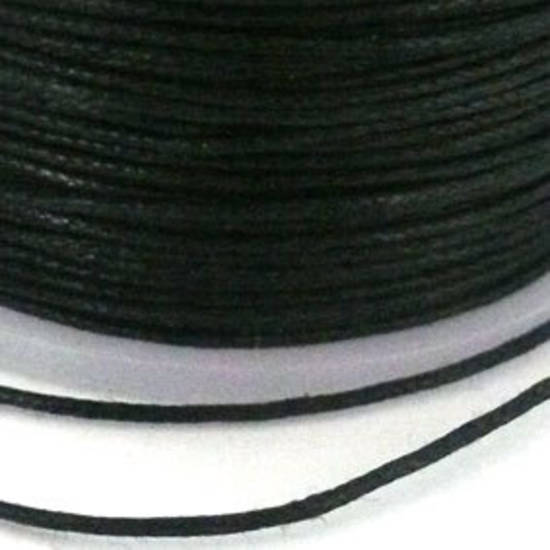 Indian round cotton cord - 0.5mm - black