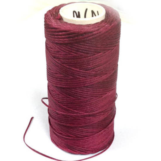 1mm Braided Waxed Cord, Wine
