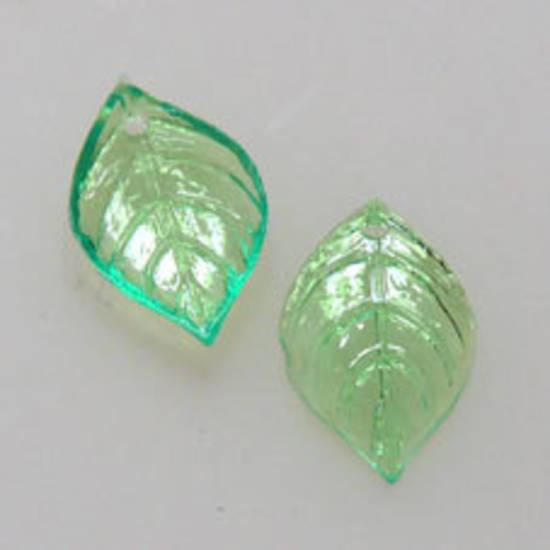 NEW! Acrylic Leaf, 9mm x 15mm - Light Green
