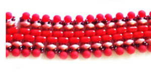 KITSET: Pathways Bracelet - coral and red