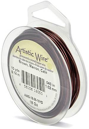 Artistic Wire: 18 gauge, Brown