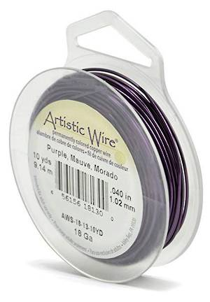 Artistic Wire: 18 gauge, Purple