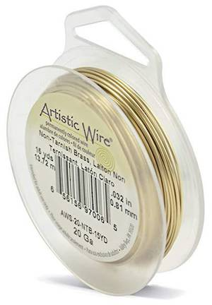 Artistic Wire, Non Tarnish Brass (GOLD), 20 gauge
