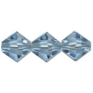 4mm Swarovski Crystal Bicone, Aquamarine