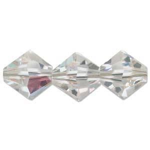 4mm Swarovski Crystal Bicone, Crystal AB