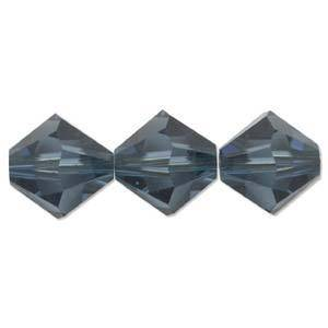 4mm Swarovski Crystal Bicone, Montana