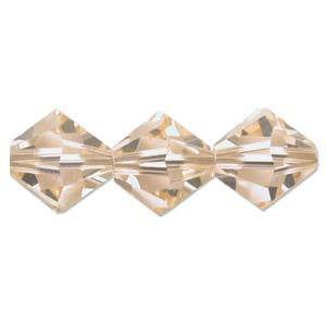 8mm  Swarovski Crystal Bicone, Light Peach