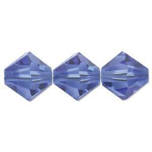4mm Swarovski Crystal Bicone, Sapphire