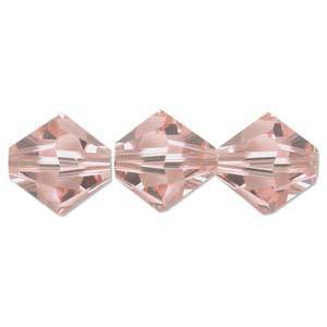 6mm Swarovski Crystal Bicone, Vintage Rose