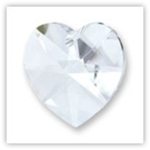 Swarovski Heart, 10mm - Crystal