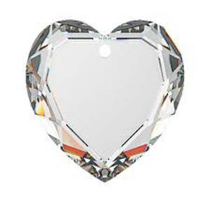 Swarovski Flat Heart, 10mm - Crystal