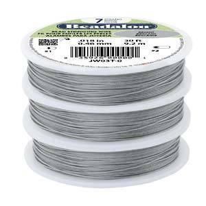 Beadalon flexible wire .012 BRIGHT-CLEAR 30FT - 7 strand
