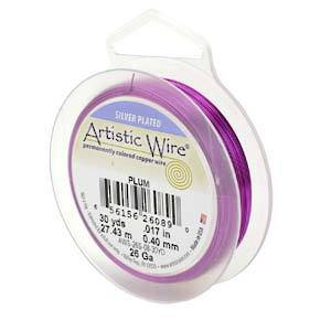 CLEARANCE: Artistic Wire, Plum, 28 gauge JUST 1 LEFT