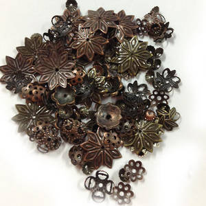 NEW! MIXED bead caps, coppers and brasses