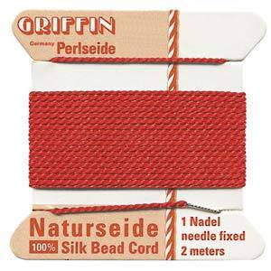 Griffin Silk Cord - Red - Size 2 (0.45mm)