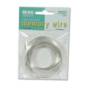 Memory Wire, Small Bracelet - bright silver: 1 oz pack