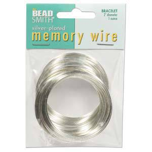 Memory Wire, Medium Bracelet - bright silver: 1 ounce pack