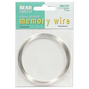 "Memory Wire, Larger (2.25"")  Bracelet - bright silver: 12 coil pack"